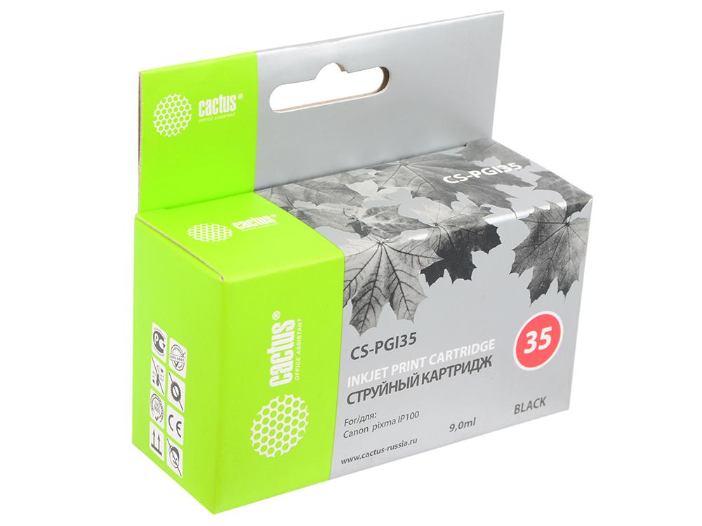 Картридж CACTUS CS-PGI35 для Canon iP100 черный 190стр цены