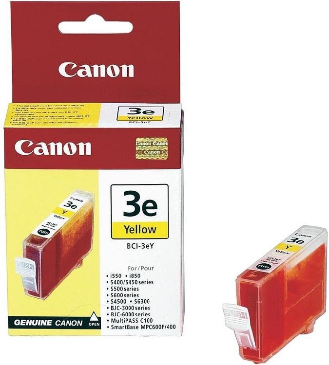 Картридж Canon BCI-3eY 4482A002 для BC-31/BC-33/S600 желтый 390стр картридж canon bci 6 yellow 4708a002