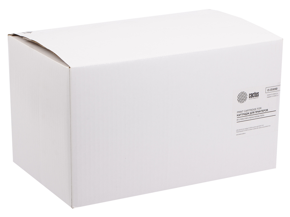 Тонер Картридж Cactus CS-CE505XD черный x2уп. для HP LJ 2055 картридж cactus 106r02181 cs ph3010