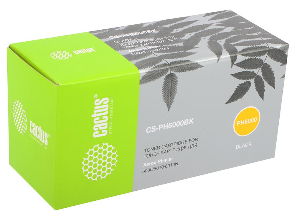 Картридж Cactus CS-PH6000BK для Xerox 6000 6010 черный 2000стр картридж cactus cs cf281av черный
