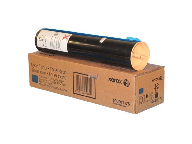 Тонер-Картридж Xerox 006R01176 для WC7228/7235/7245/7328/7335/7345/C2128/2636/3545 голубой 16000стр 1 pc free shipping upper fuser heat roller for xerox dc450 3300 7120 7125 7235 7245 7238 7335 7700 7750 good quality