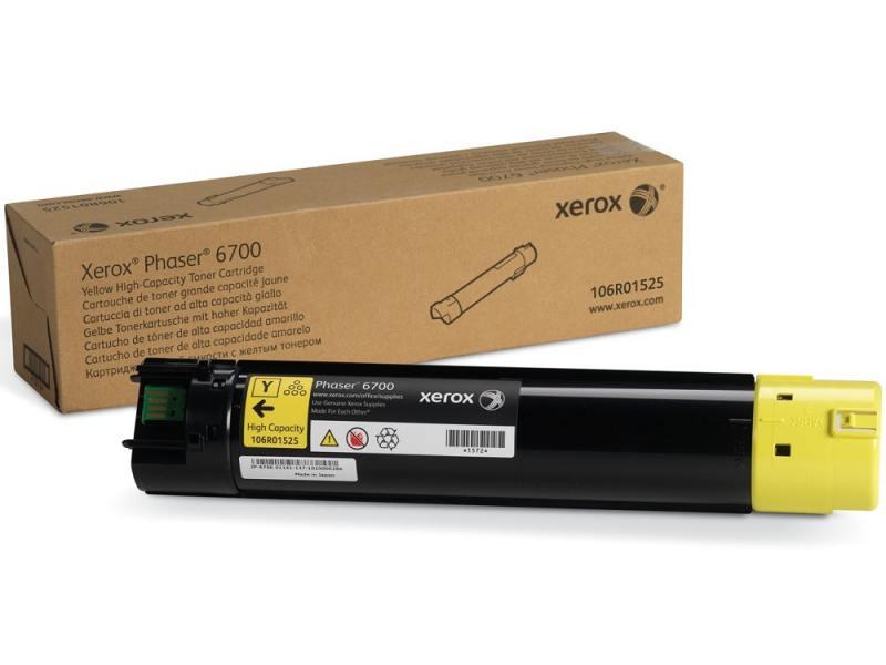 Картридж Xerox 106R01525 желтый (yellow) 12000 стр для Xerox Phaser 6700 копи картридж xerox желтый 50k phaser 6700