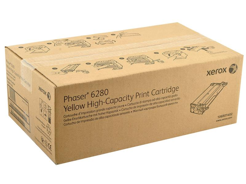 Картридж Xerox 106R01402 желтый (yellow) 5900 стр для Xerox Phaser 6280 копи картридж xerox желтый 50k phaser 6700