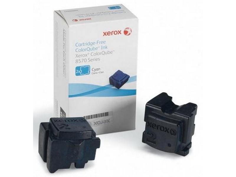 Картинка для Набор твердочернильных брикетов Xerox 108R00936 для ColorQube 8570 2шт голубой 4400стр
