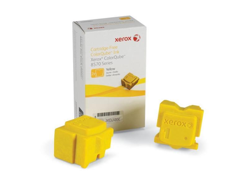Набор твердочернильных брикетов Xerox 108R00938 для ColorQube 8570 2шт желтый 4400стр набор брикетов для копчения торфтехнолин ольха 15 шт