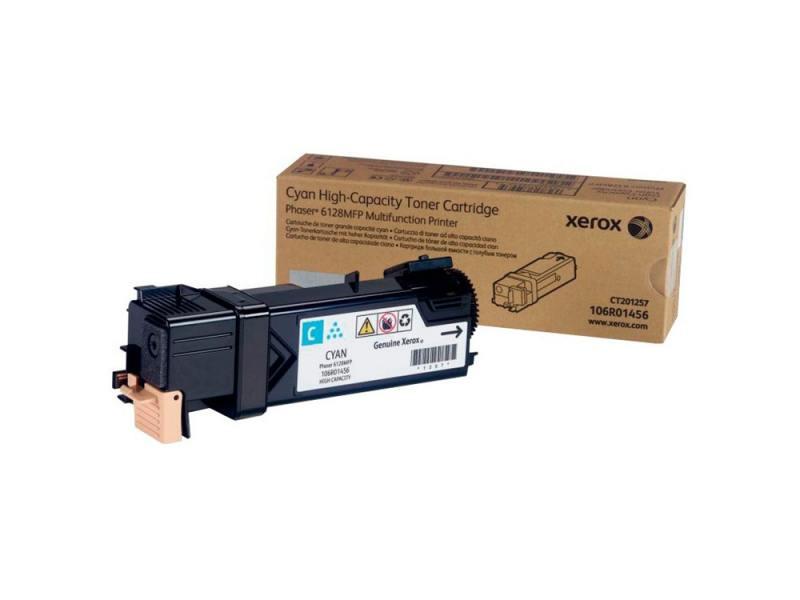 Тонер-Картридж Xerox 106R01456 для Phaser 6128 MFP голубой 2500стр тонер картридж xerox 106r02236