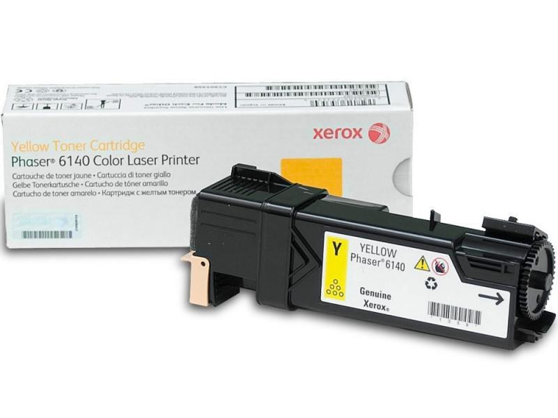 Тонер-картридж Xerox 106R01483 для Phaser 6140 желтый 2000стр цена