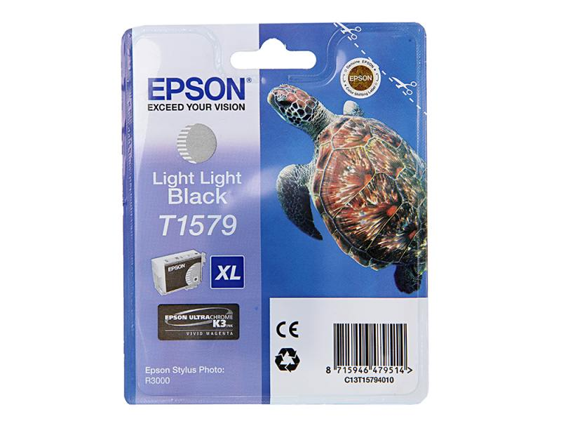 Картридж Epson C13T15794010 для Epson Stylus Photo R3000 Light Light Black светло-серый epson c13t26314010 black