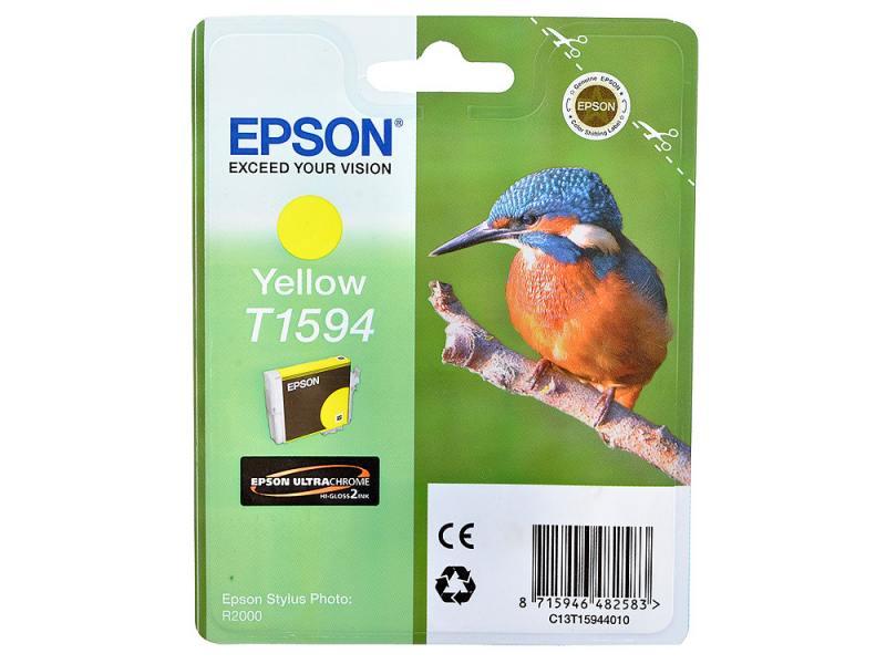 Картридж Epson C13T15944010 T1594 для Epson Stylus Photo R2000 желтый