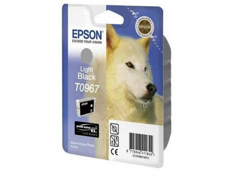Картридж Epson C13T09694010 T0969 для Epson Stylus Photo R2880 Light Light Black светло-чёрный epson с13t10414a10 black
