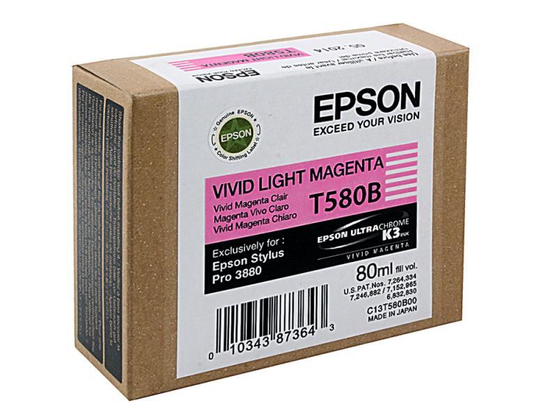 Картридж Epson C13T580B00 для Epson Stylus Pro 3880 Vivid Light Magenta t8246 vivid light magenta 350 мл c13t824600