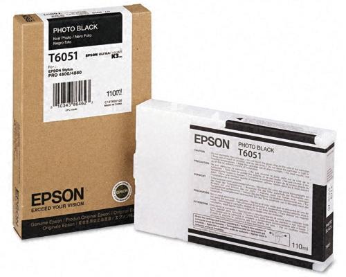 Картридж Epson C13T605100 фото черный (photo black) 110 мл для Epson Stylus Pro 4880