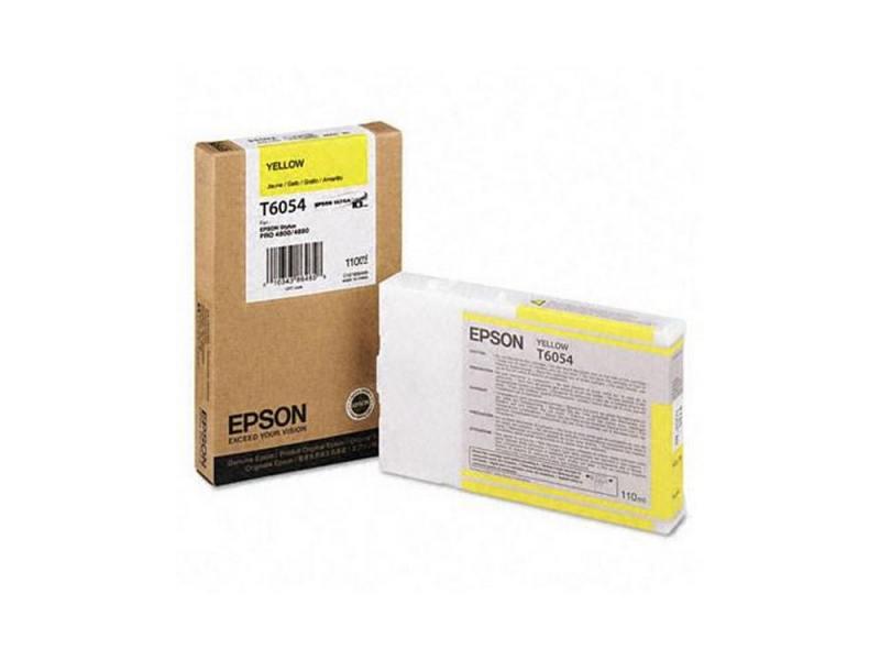 Картридж Epson C13T605400 желтый (yellow) 110 мл для Epson Stylus Pro 4880