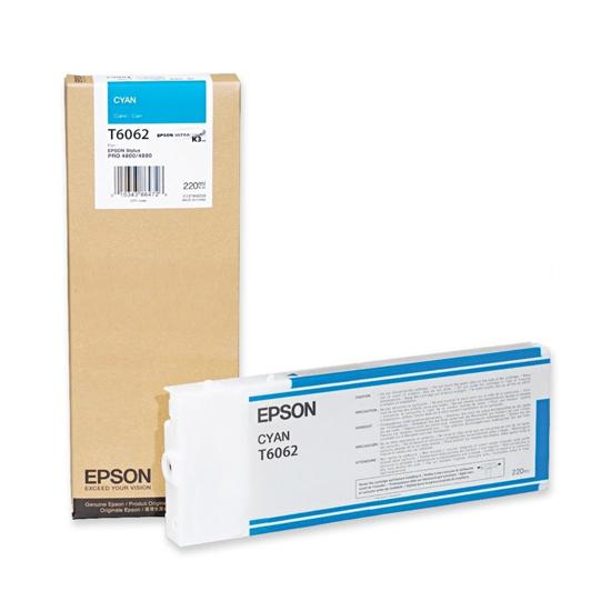 Картридж Epson C13T606200 для Epson Stylus Pro 4880 голубой 220 мл комплект ультрахромных чернил inksystem для epson stylus pro 4880 1л 9 цветов