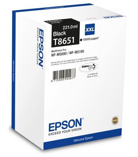 цена на Картридж Epson C13T865140 для Epson WF-M5xxx черный