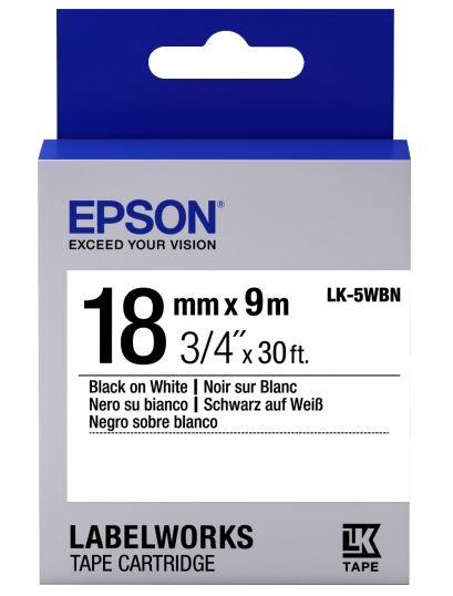 Лента Epson LC-5WBN для Epson LabelWorks LW-400 400VP 700 900P C53S655006 цена