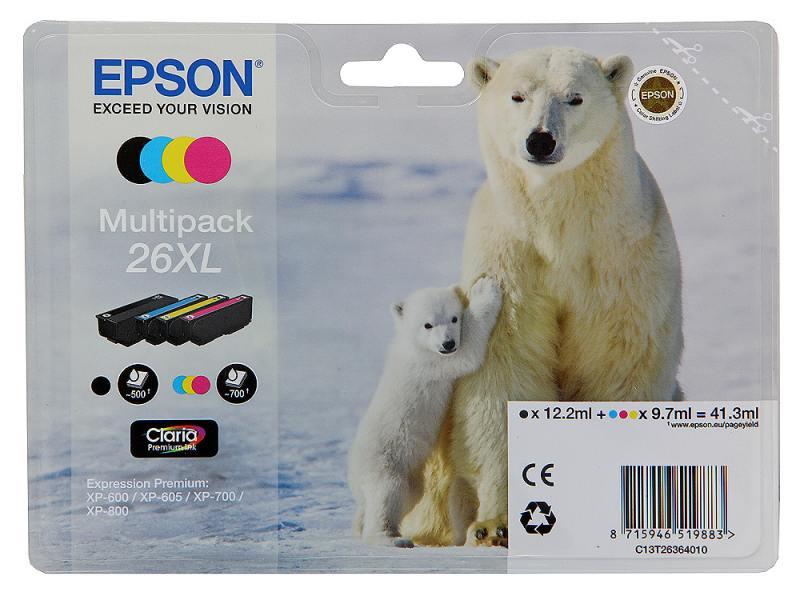 все цены на Набор картриджей Epson C13T26364010 MultiPack для XP-600 XP-700 XP-800 увеличенный онлайн