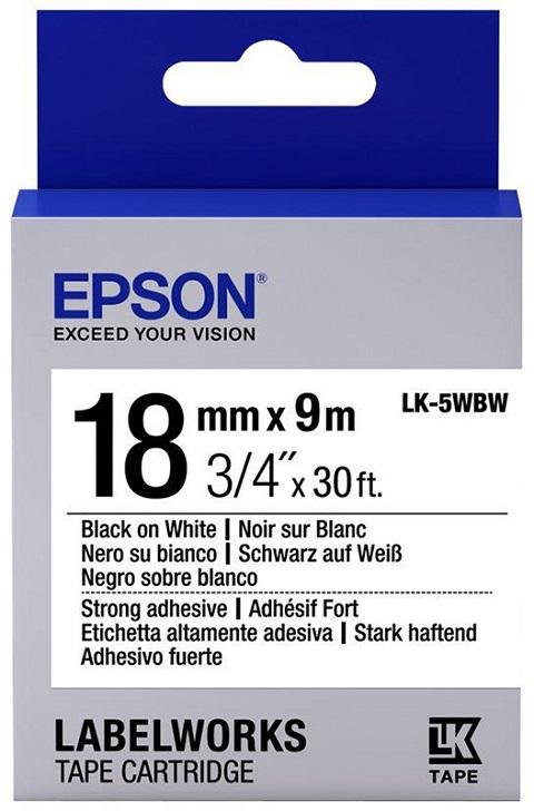 Лента Epson LK-5WBW для Epson LabelWorks LW-400 400VP 700 900P C53S655012 цена