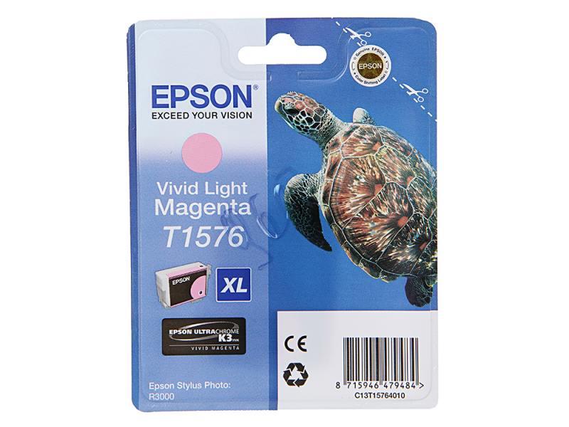 купить Картридж Epson C13T15764010 для Epson Stylus Photo R3000 светло-пурпурный по цене 2585 рублей