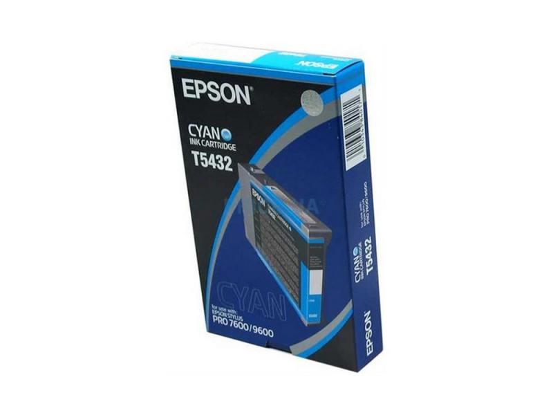 Картридж Epson C13T543200 для Epson Stylus Pro 7600/9600 голубой