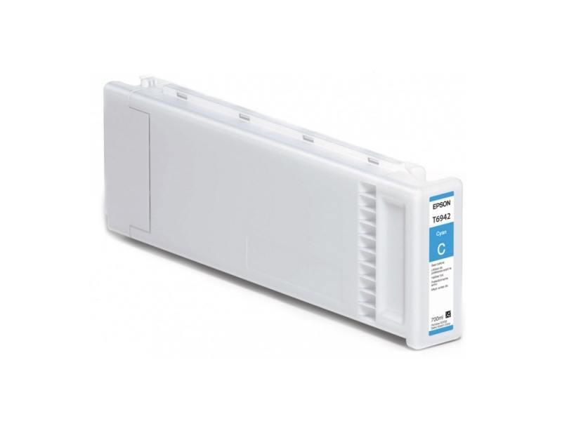 Картридж Epson C13T694200 для SC-T3000/T5000/T7000 UltraChrome XD голубой 700мл картридж epson c13t694300 для sc t3000 t5000 t7000 ultrachrome xd пурпурный 700мл
