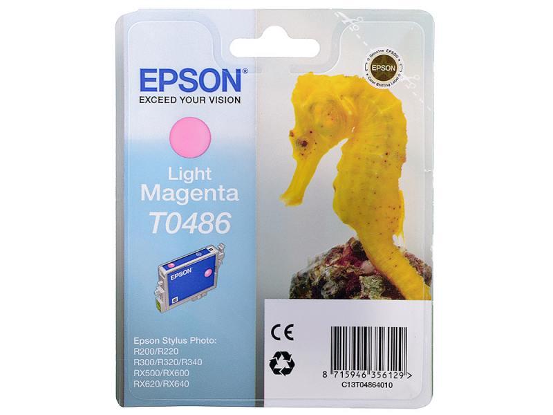 ! Картридж Epson T048640 для Stylus Photo R200 R300 RX500 RX600 Light Magenta Свтело-Пурпурный epson t0487 multipack c13t04874010 картридж для stylus photo r200 r300