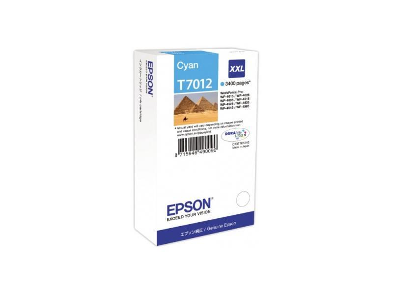 Картридж Epson С13Т701240XXL для WP 4000/4500 Series голубой 3400стр картридж epson c13t70334010 l для wp 4000 4500 series magenta пурпурный
