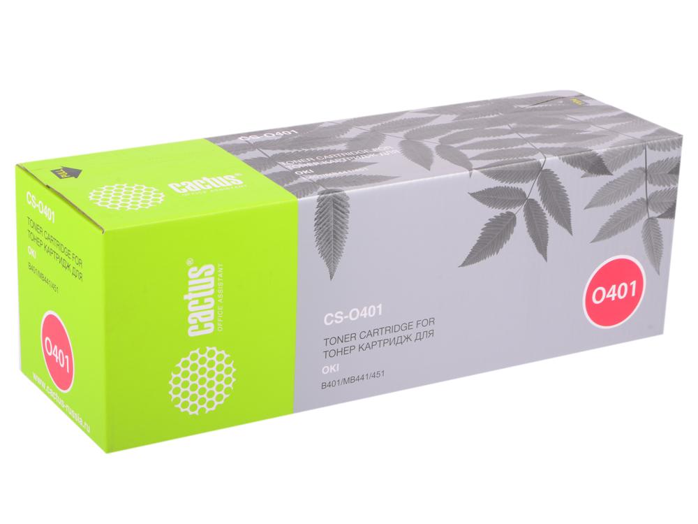 Картридж Cactus CS-O401 для Oki B401/MB441/451 черный 1500стр цена