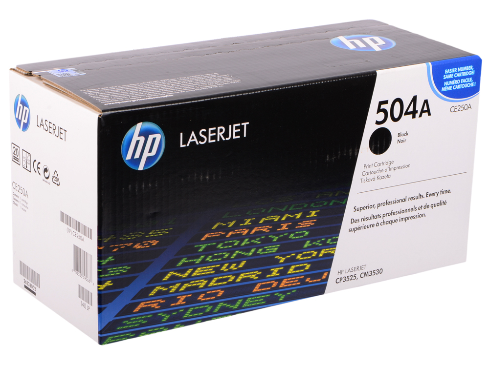 Фото - Картридж HP CE250A черный для Color LaserJet CM3530 CP3525 5000стр тонер картридж cactus cs ce250av черный 5000стр для hp clj cm3530 cp3525