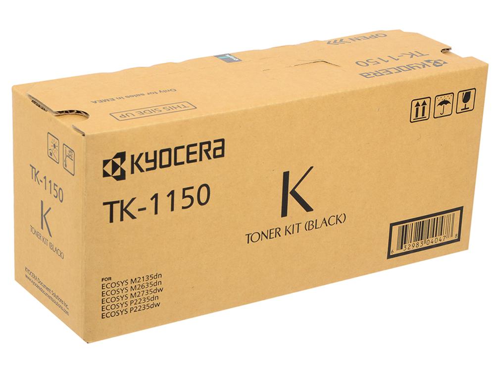 Картридж Kyocera TK-1150 для Kyocera P2235dn P2235dw M2135dn M2635dn M2735dw черный 3000стр картридж kyocera tk 560y 1t02hnaeu0