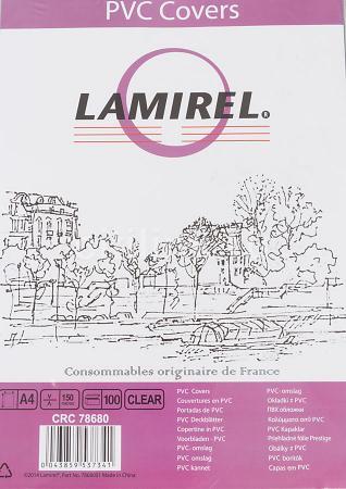 Обложка Fellowes Lamirel A4 прозрачный 100шт LA-7868001 lpd 2319 la mi la a4