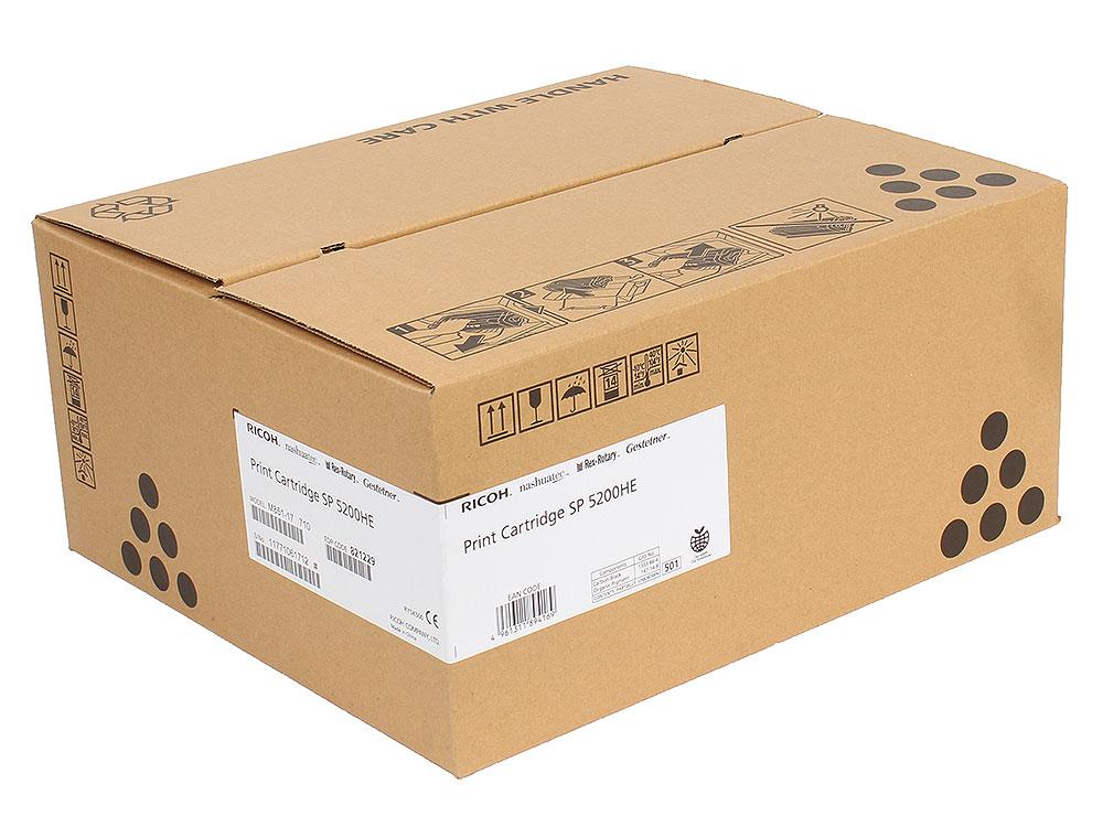 Тонер-картридж Ricoh SP 5200HE для SP5200S/SP5210SF/SP5210SR/SP5200DN/SP5210DN. Чёрный. 25 000 страниц. тонер картридж ricoh spc310he