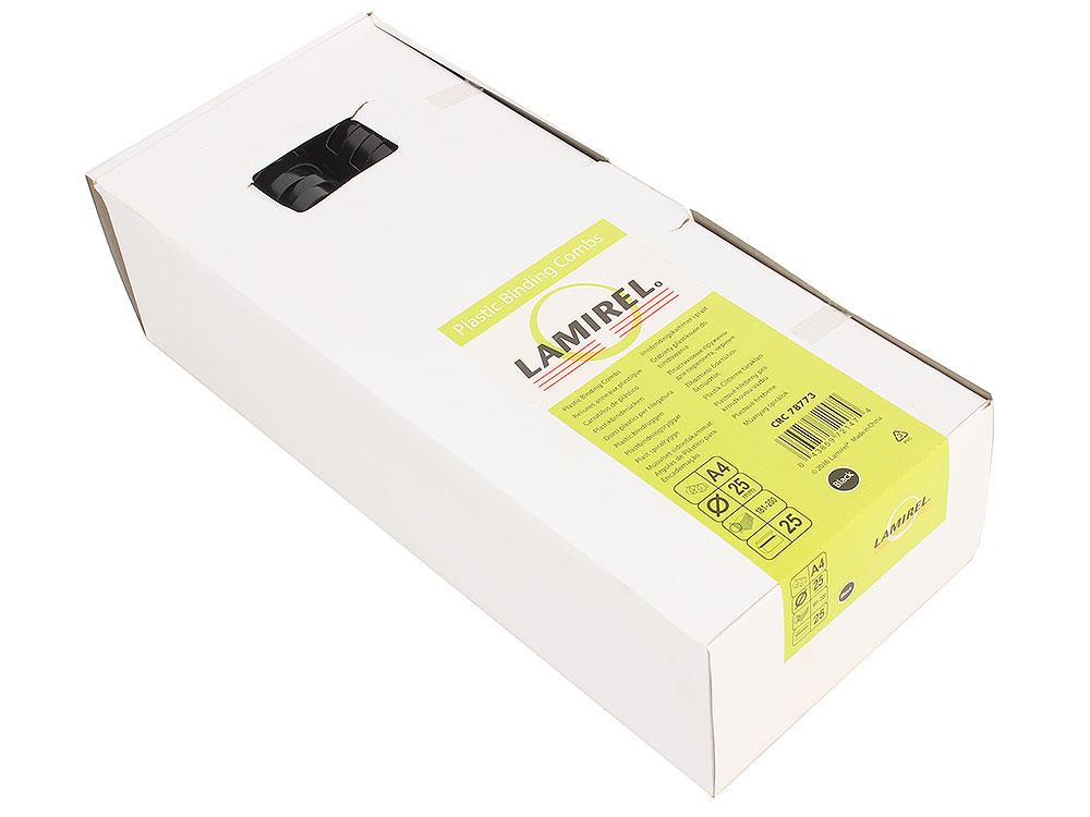 Пружина пластиковая Lamirel, 25 мм. Цвет: черный, 25 шт., шт