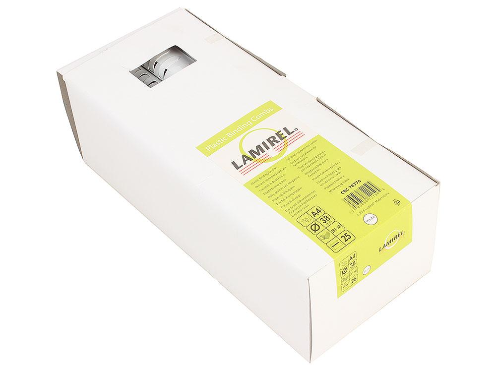 цена Пружина пластиковая Lamirel, 38 мм. Цвет: белый, 25 шт., шт онлайн в 2017 году