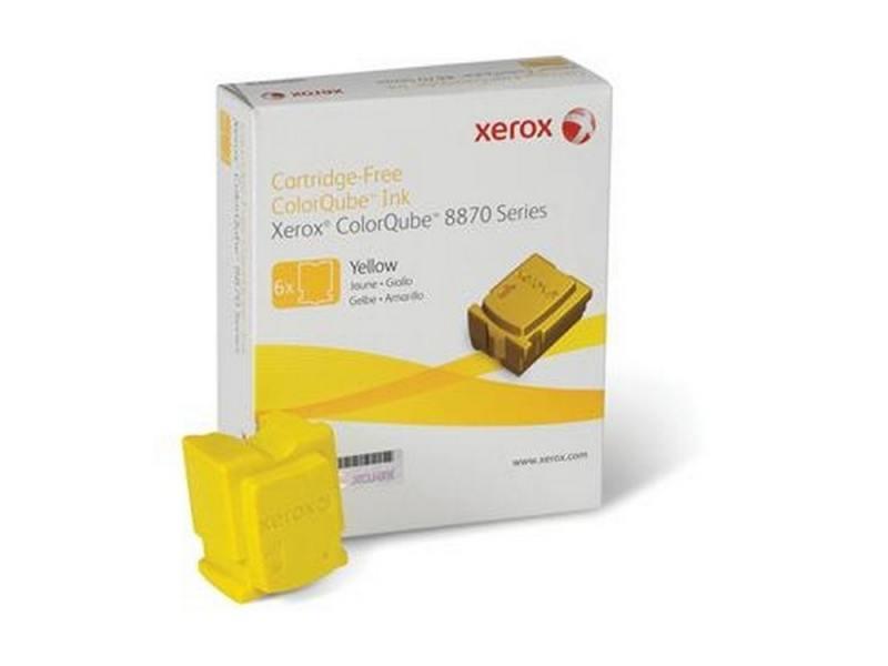 Набор твердочернильных брикетов Xerox 108R00960 для ColorQube 8870 6шт желтый 17300стр набор брикетов для копчения торфтехнолин ольха 15 шт