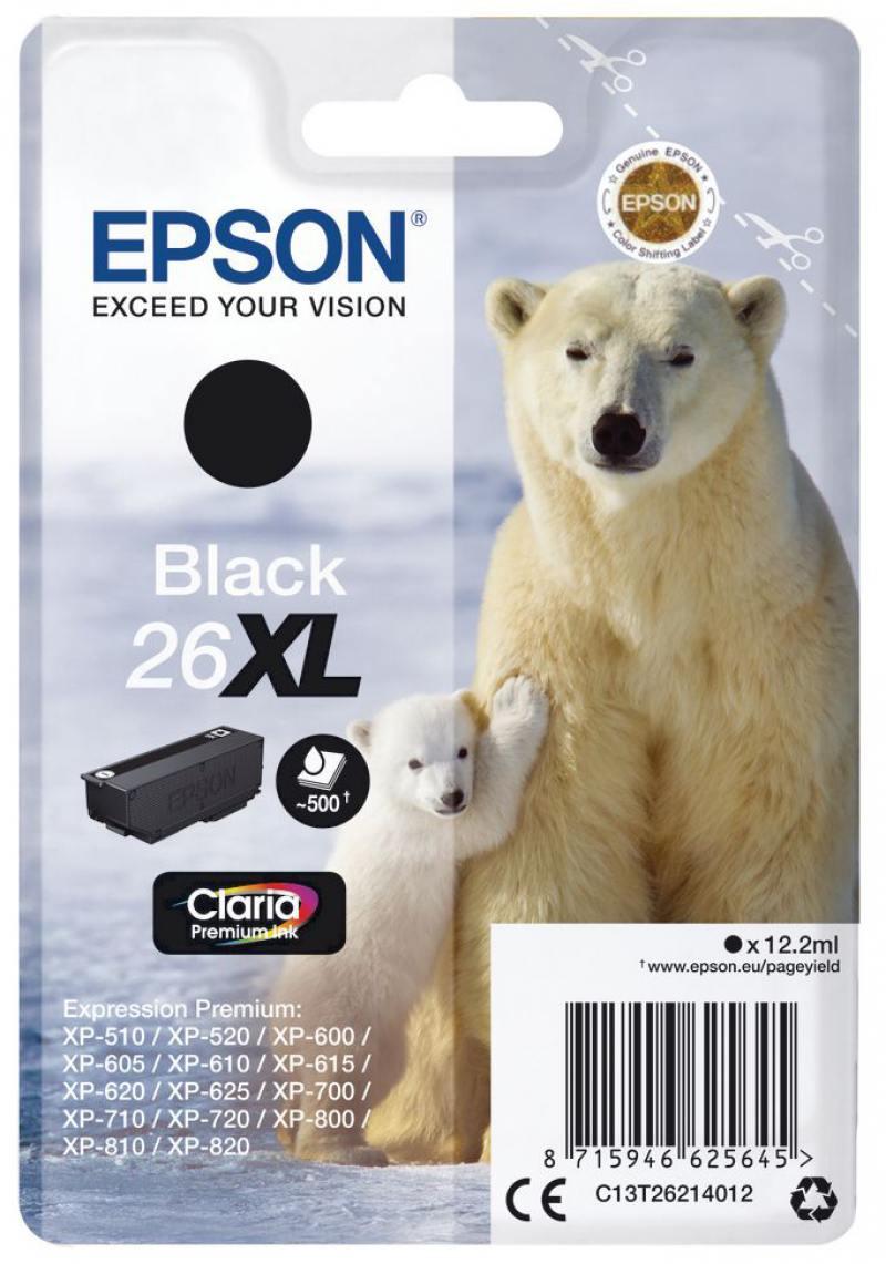 Картридж Epson C13T26014012 для Epson XP-600/605/700/710/800 черный 220стр цена