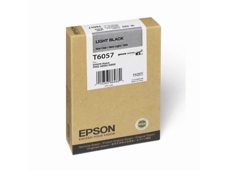 Картридж Epson C13T605700 серый (grey) 110 мл для Epson Stylus Pro 4880