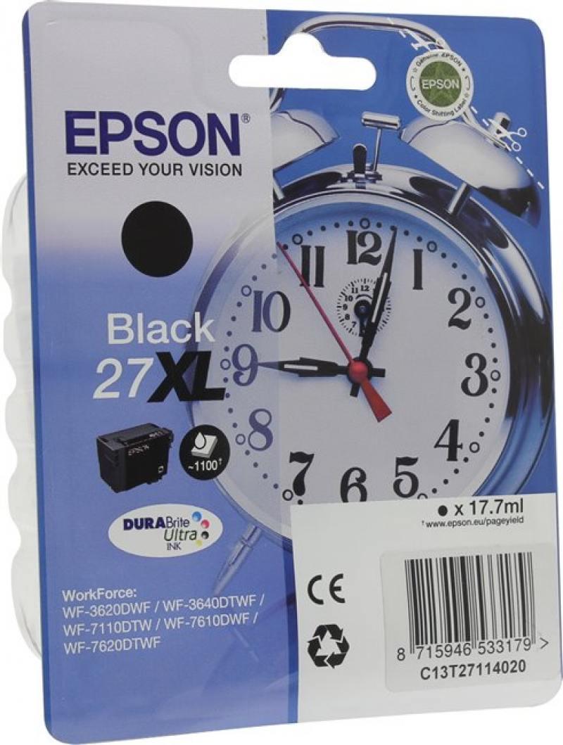Картридж Epson C13T27114020 черный (black) 17,7 мл для Epson WorkForce WF-3620/3640/7110/7210/7610/7620/7710