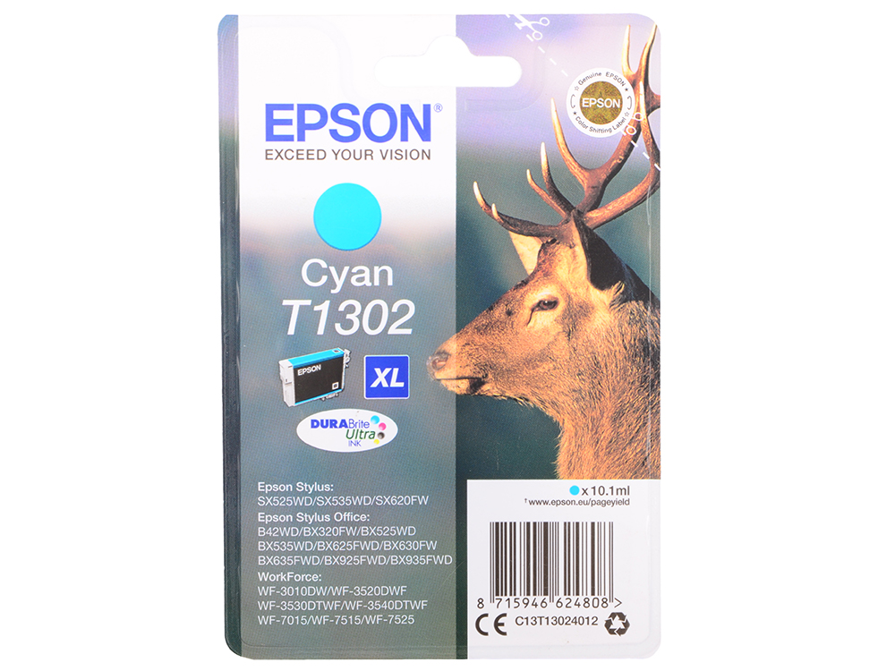 Картридж Epson C13T13024012 для Epson St SX525WD/SX535WD/St Of B42WD/BX320FW/BX625FWD/BX635FWD/WF-70 картридж epson c13t13024012 для epson st sx525wd sx535wd st of b42wd bx320fw bx625fwd bx635fwd wf 70