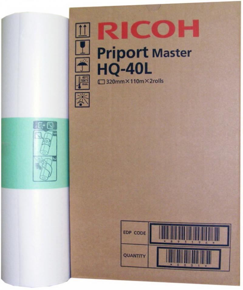 купить Мастер-плёнка Ricoh A3 RICOH PRIPORT MASTER HQ40L для Priport JP4500/ DX4542 4545 893196 по цене 9757 рублей