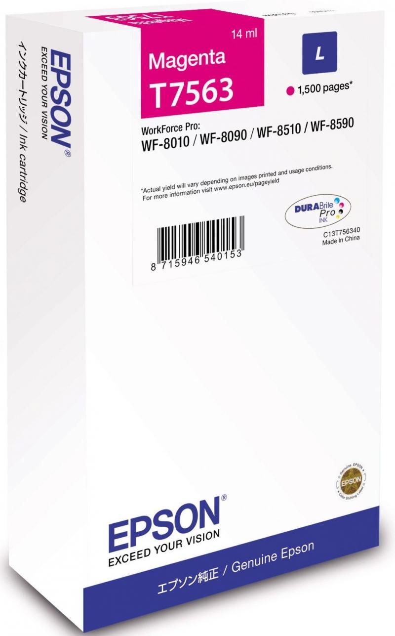 Картридж Epson C13T756340 для Epson WF-8090/8590 пурпурный