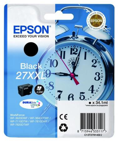 Картридж Epson C13T27914022 для Epson WF7110/7610/7620 черный 2200стр чернильный картридж epson t0922