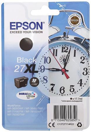 Картридж Epson C13T27114022 для Epson WF7110/7610/7620 черный 1100стр картридж epson t6641 черный [c13t66414a]