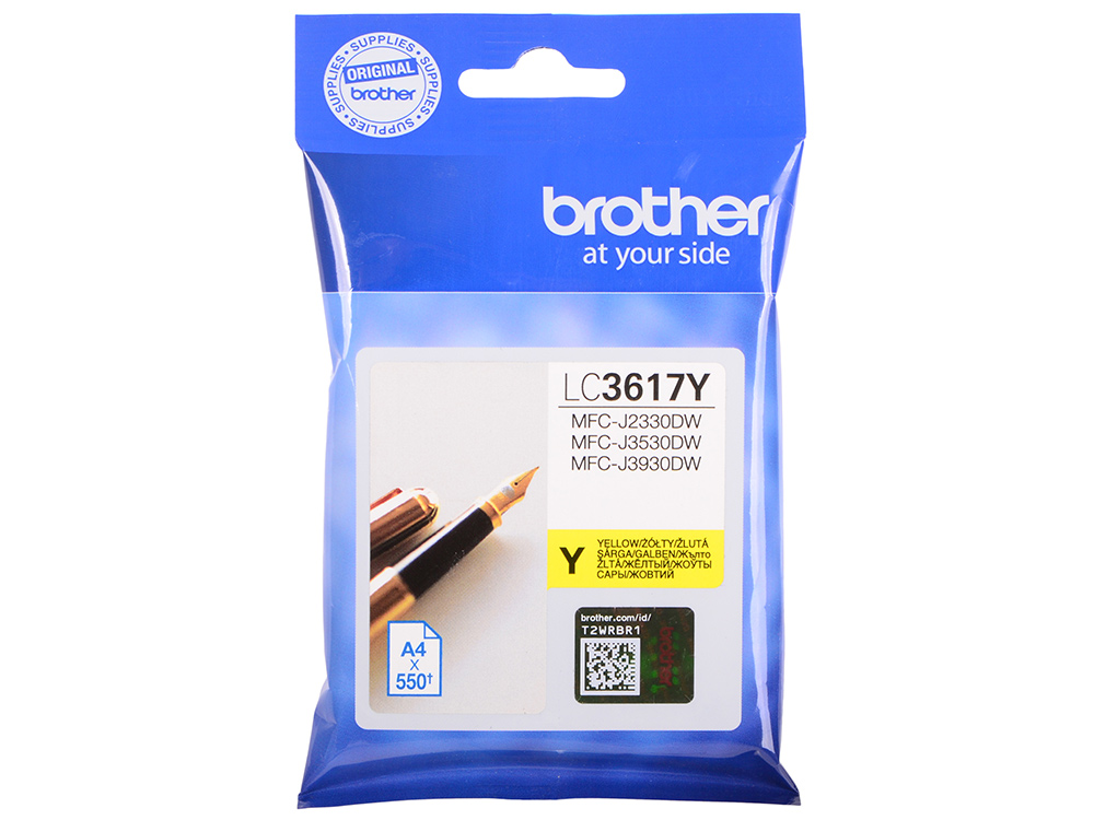 Картридж Brother LC3617Y желтый (yellow) 550стр для Brother MFC-J3530DW/J3930DW