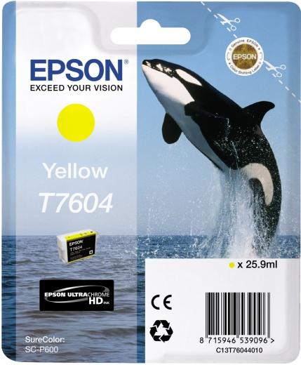 Картридж Epson C13T76044010 желтый (yellow) 25,9 мл для Epson SC-P600 картридж epson t0804 yellow c13t08044011
