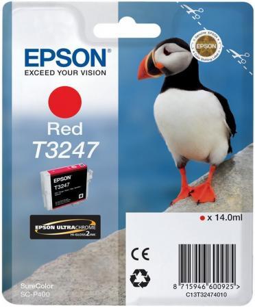 Картридж Epson C13T32474010 красный (red) 14 мл для Epson SC-P400 цена 2017