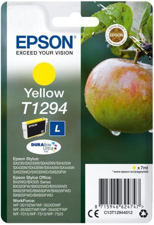 Картридж Epson C13T12944012 для Epson SX420W/BX305F желтый replacement projector original lamp elplp67 for epson powerlite 1221 powerlite 1261w s11 x12 ex3210 ex5210 projectors 200w