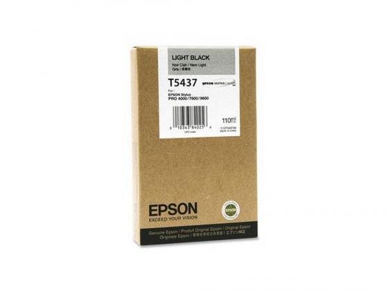 цена на Картридж Epson C13T543700 серый (grey) 110 мл для Epson Stylus Pro 4000/7600/9600