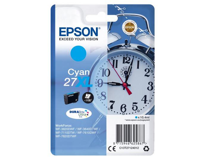 Картридж струйный Epson C13T27124022 голубой (cyan) 1100 стр для Epson WorkForce WF-7110/7210/7610/7620/7710/7720