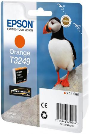 лучшая цена Картридж Epson C13T32494010 для Epson SC-P400 оранжевый
